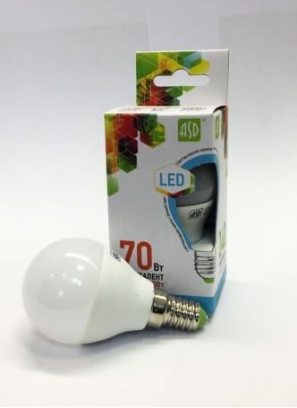Светодиодная лампа ASD Шар 7.5w Е27 3000k