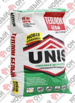 ЮНИС / UNIS Теплон белый штукатурка гипсовая (30 кг)