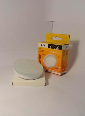 Ecola GX53 св/д 4.2W 4200K 4K 27x75 матов. стекло T5MV42ELC