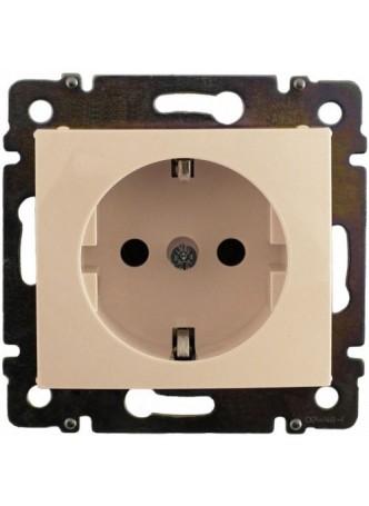 Розетка электрическая одиночная, с заземлением Legrand Valena (Сл. Кость)