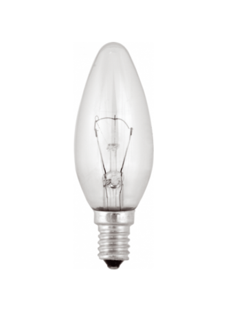 Лампа накал. GE C1 E14 60в свеча прозрачная